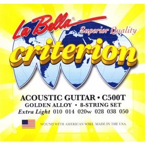 Струны для акустической гитары La Bella Criterion C500T (.10-.50)