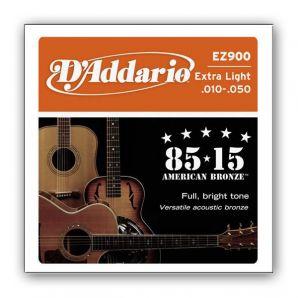 Струны для акустической гитары D'Addario EZ900 Bronze Extra Light (.10-.50)