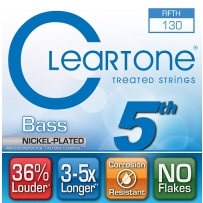 Струны для бас гитары Cleartone 64-130 Bass Nickel-Plated 5th String (.130)