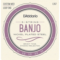 Струны для банджо D'Addario EJ57 Nickel Plated Custom Medium (.11-.22-.11)