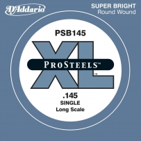 Струны для бас гитары D'Addario PSB145 ProSteels Round Wound Single (.145)