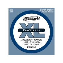 Струны для электрогитары D'Addario EPS590 XL Pro Steels Jazz Lite (6 струн .012-.052)