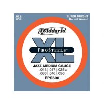 Струны для электрогитары D'Addario EPS600 XL Pro Steels Jazz Medium (6 струн .013-.056)