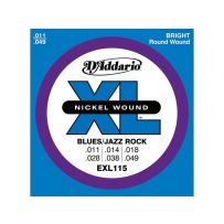 Струны для электрогитары D'Addario EXL115 XL Blues/Jazz Rock (6 струн .011-.049)