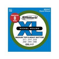 Струны для электрогитары D'Addario EXL117 XL Medium Top / Extra Heavy Bottom (6 струн .011-.056)