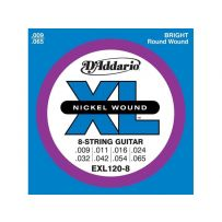 Струны для электрогитары D'Addario EXL120-8 XL Super Light 8str (6 струн .009-.065)