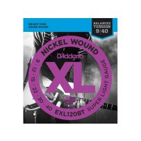 Струны для электрогитары D'Addario EXL120BT XL Balanced Tension Super Light (6 струн .009-.040)