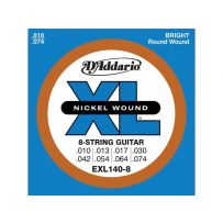 Струны для электрогитары D'Addario EXL140-8 XL 8 strings Light Top/Heavy Bottom (6 струн .010-.074)